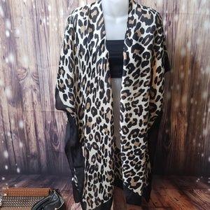 New leopard print kimono